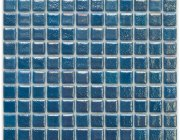 Aussietecture Balmoral swimming pool mosaic, blue glass mosaic for pool tiling