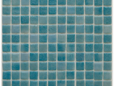 Aussietecture Paris swimming pool mosaic, blue glass mosaic for pool tiling