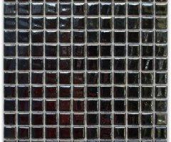 Aussietecture Phuket swimming pool mosaic, black glass mosaic for pool tiling