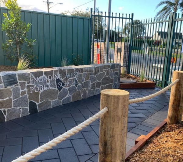 Tilpa irregular cladding project in Engadine, New South Wales by metropolitan landscapes