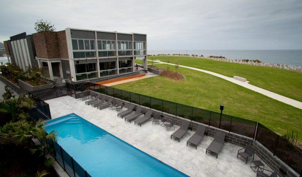 Grey Granite tile & paver in swimming pool design