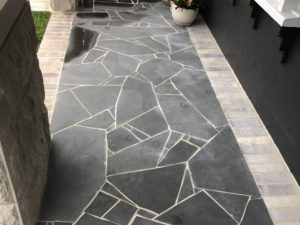 Iluka Bluestone Crazy Pave in a residential pathway project