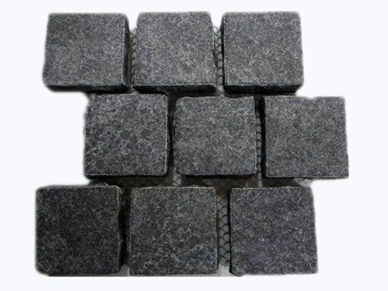 Aussie black granite cobblestone