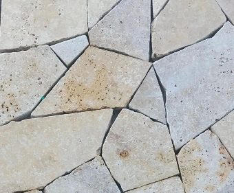Travertine crazy paving
