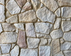 Australian banded irregular sandstone walling