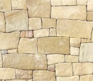 Banded sandstone irregular cladding stone
