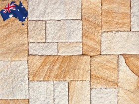 Banded colonial Australian sandstone cladding