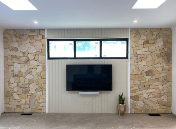 Banded irregular Natural stone wall cladding featured wall projects in Berowra NSW, by Exactstone