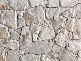 Irregular burnie white Australian stone cladding