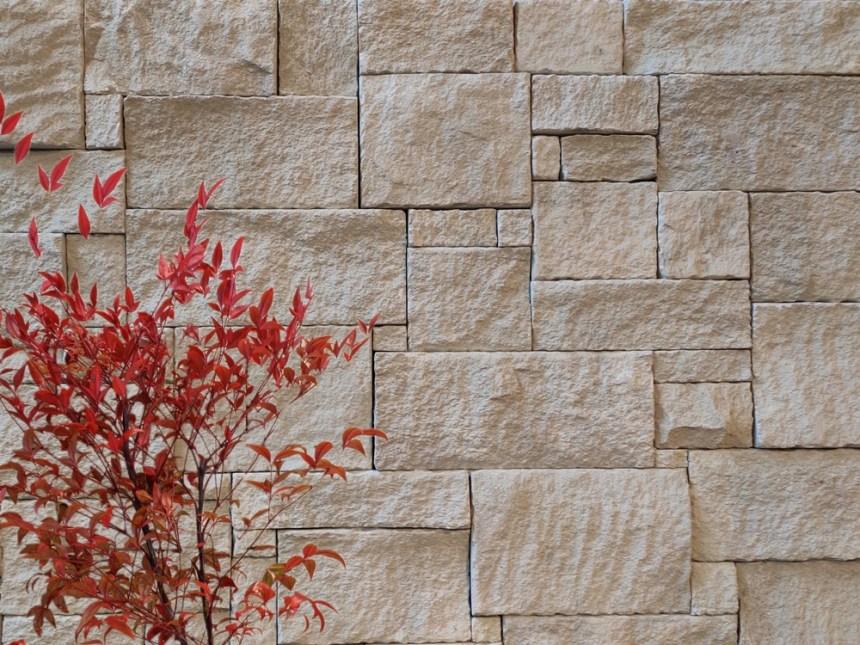 Colonial white sandstone cladding