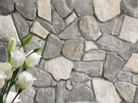 Bligh irrgular mixed grey and white dry stack cladding stone
