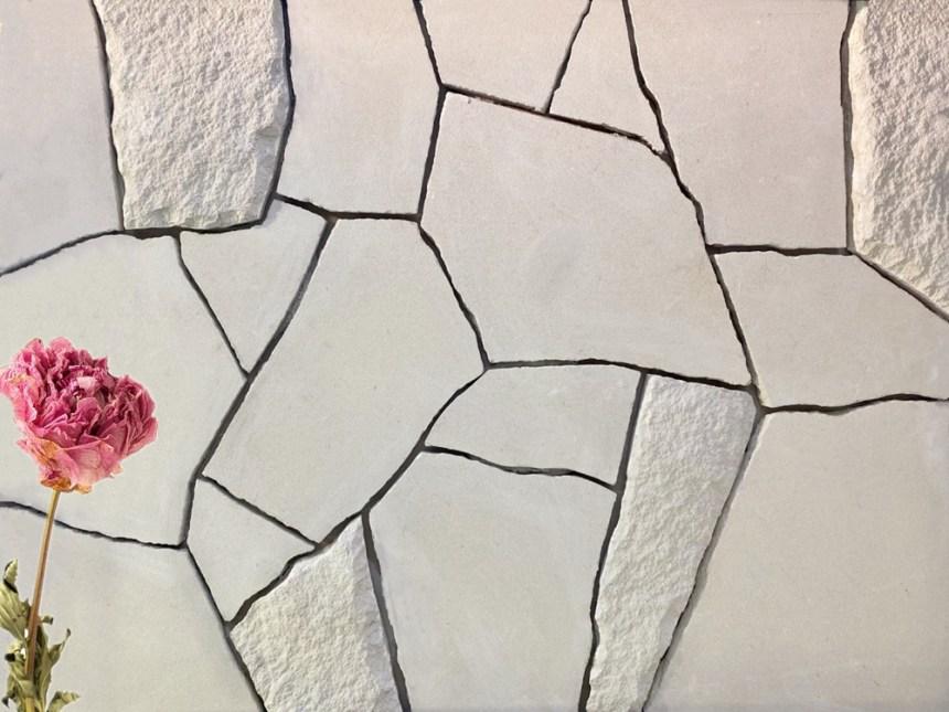 Foster irrgular white sandstone cladding