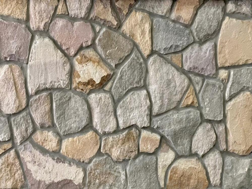 York irrgular mixed grey and beige sandstone cladding