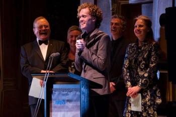 Glenn Hill thanks the Rob Guest Endowment team. Image by Blueprint Studios