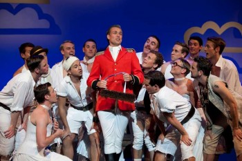 Neal Moors (Major General) and cast in Sasha Regan's The Pirates of Penzance. Image by Lisa Tomasetti 2012
