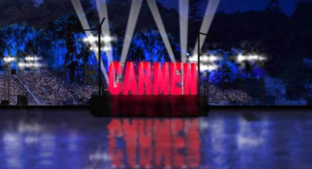 Carmen Set. Image courtesy of Opera Australia