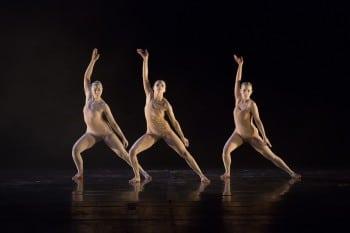 Bangarra Dance Theatre perform 'Spirit' at Vietnam's Hanoi Opera House 2 March 2013 Photo: Roger Stonehouse