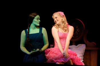 The witches of Oz! Wicked's Lucy Durack and Jemma Rix