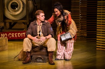 Blake Bowden as Lt Joe Cable and Christine Anu as Bloody Mary In Opera Australia's South Pacific.