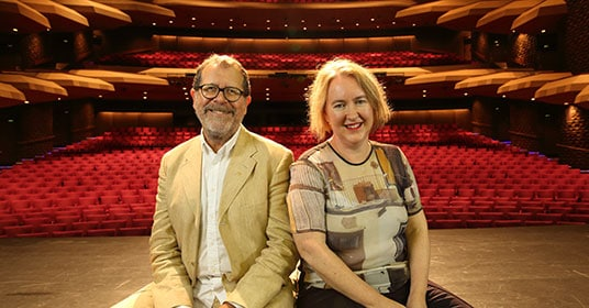 Neil Armfield and Rachel Healy. Photo by Tony Lewis