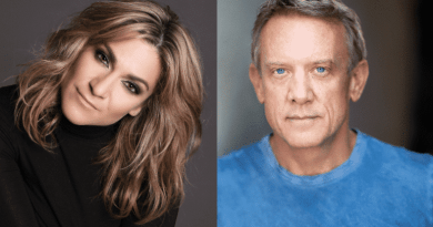 Shoshana Bean and Simon Burke prepare for their Secret Broadway performance