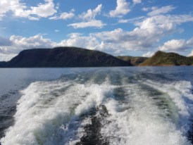 on the boat - Lake Argyle