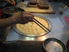 Frische Mochi auf dem Ning Xia Nachtmarkt