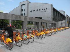 Youbike-Stationen sind in der ganzen Stadt verteilt, die Räder sind immer gut in Schuss