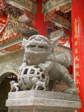 Wächter am taoistischen Bishan Tempel