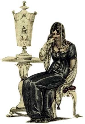 woman in mourning attire