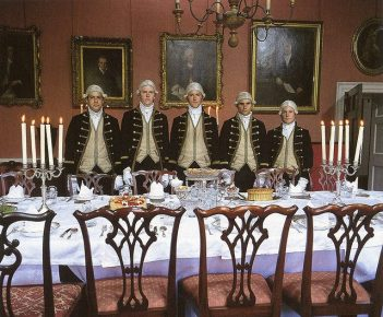 footmen regency house party