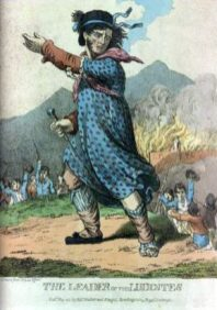 The Leader of the Luddites, engraving of 1812.