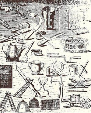 Necessary Instruments for Gardening1706.