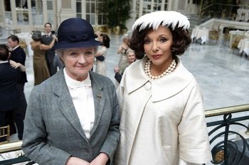 Julia McKenzie and Joan Collins in They Do It With Mirrors (2009)