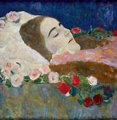 Deathbed with roses