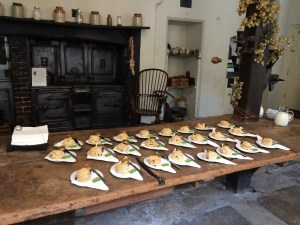 Cream tea in the kitchen at Chawton Great House