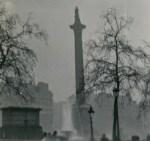 Trafalgar Square in Fog