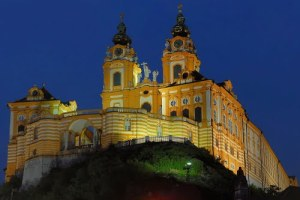 Melk abbey night