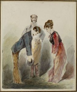 506px-Alfred_Grevin_-_Man_Bowing_to_a_Woman_-_Walters_372806