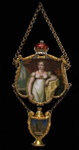 Memorial Pendant with picture of Princess Charlotte
