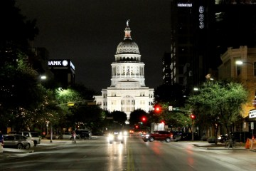 The Texas Capitol at night. Photo: Stephen C. Webster, Proud Highway Media Group.