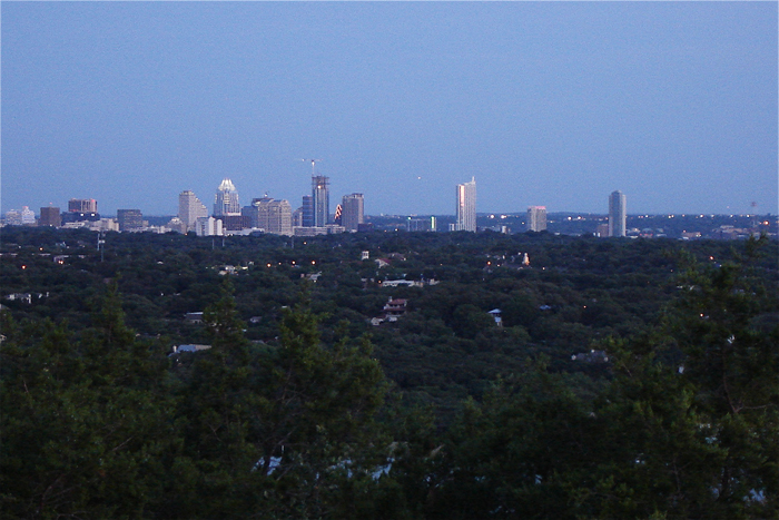 Mt Bonnell tallest highest point peak hill mountain Austin Texas skyline lady bird lake town colorado river