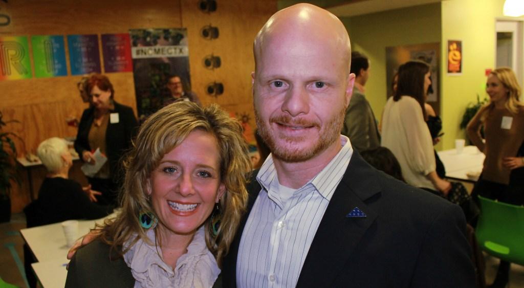 Tara Schmidt and Devin Kearnan of the Secret Service.