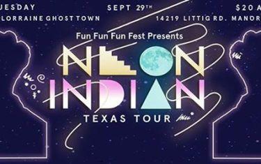 Neon Indian @ J. Lorraine Ghost Town (Austin) presented by Fun Fun Fun Fest