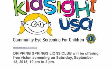 Dripping Springs Lions Club Children's Vision Screening