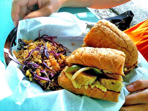 counter culture raw vegan vegetarian sandwich