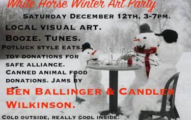 White Horse Winter Art Party