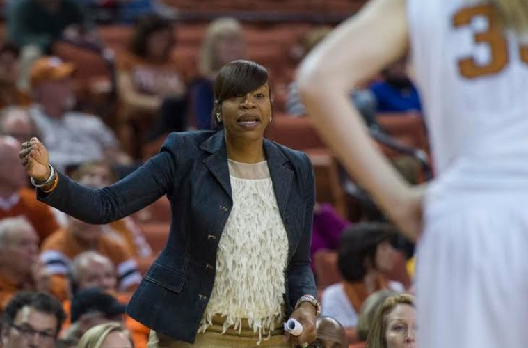 Tina Thompson, WNBA legend, is in her first season as an assistant coach for the Longhorns (Photo Credit: University of Texas Athletics)