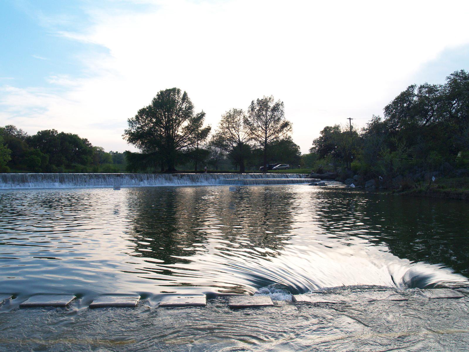 blanco state park river crossing bridge low water flood