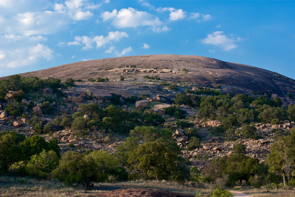 enchanted rock summit rock climbing bouldering state natural area